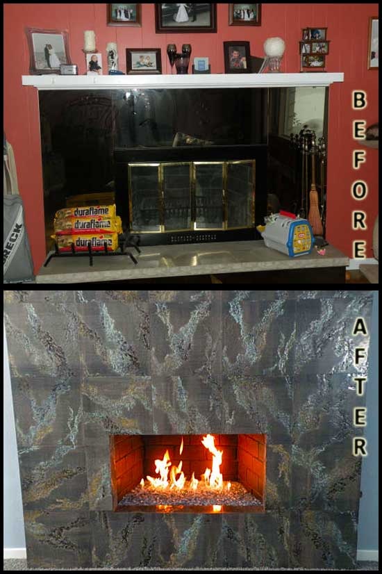 Before converting to a fireplace fireglass