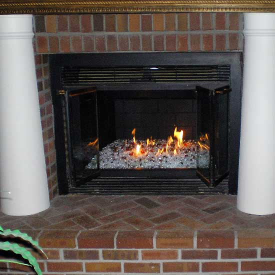 picture 2 of fireplace with fire crystals