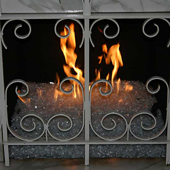 picture 13 of fireplace with fire crystals