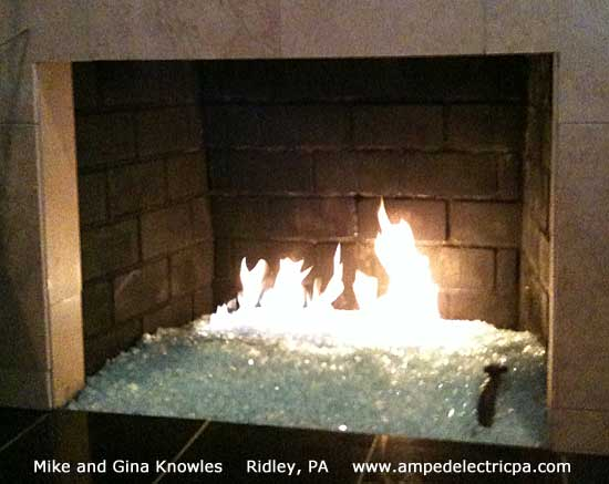 clear white Fireplace Glass