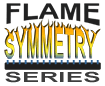 Flame Symmetry Fireplace Burners Logo