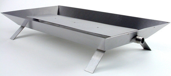 Stainless Propane Fireplace Burner with Strap Legs