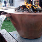 32 Inch FlameCrest Copper Fire-Water Pit
